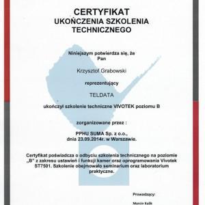 certyfikat ukończenia szkolenia technicznego